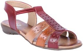 Feel It Women Maroon Sandals