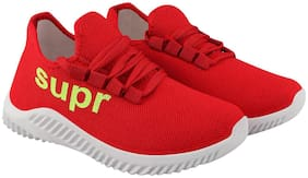 Stylish & Comfortable Walking Shoes For Men ( Red )