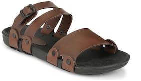 Fentacia Men Brown Flip-Flops -