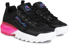 Fila Women Black Canvas Shoes