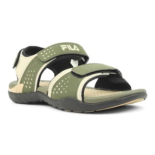 1dba80b5 Buy Fila Men Green Sandals & Floaters Online at Low Prices in India ...