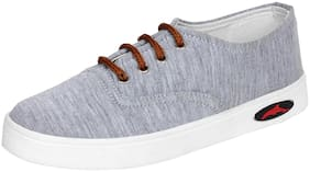 FITEH Women Grey & White Casual Shoes
