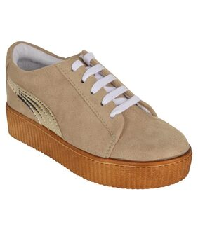 FITEH Women Beige Sneakers