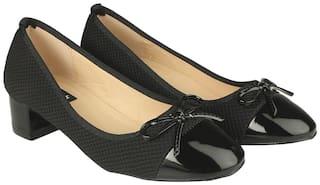 Flat n Heels Pumps For Women ( Black )