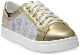 Flat n Heels Women Copper Casual Shoes