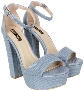 Flat n Heels Women Blue Pumps