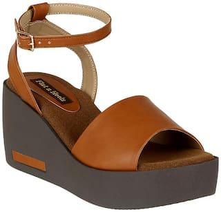Flat n Heels Wedges For Women ( Tan ) 1 Pair