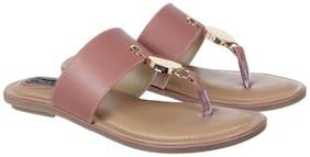 Flat n Heels Women Pink Sandals