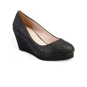 Flat N Heels Black Slip Ons