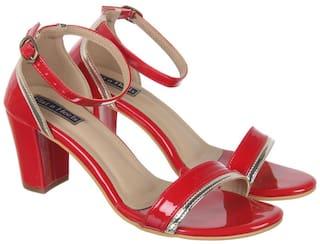 Flat n Heels Sandals For Women ( Red ) 1 Pair