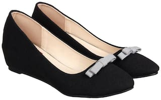 918cc944bf0 Buy Flat n Heels Women Black Wedges Online at Low Prices in India ...