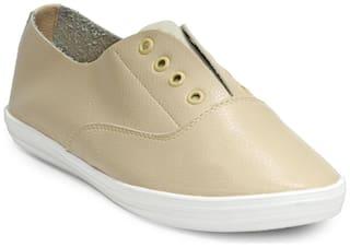 Flat n Heels Women Beige Sneakers