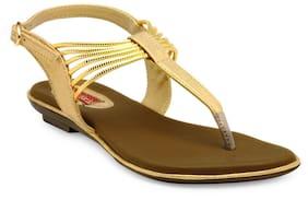 Flat n Heels Gold sandals