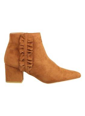 Flat n Heels Women Tan Boot