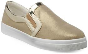 Flat n Heels Gold Flat Casual Shoes