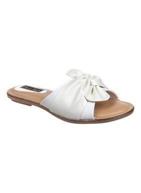 Flat n Heels Women White Sandals