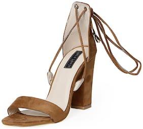 Flat n Heels Tan Stilettos