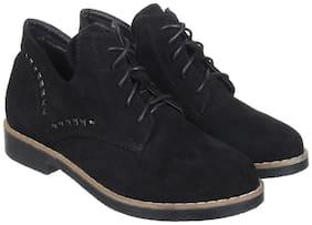 Flat n Heels Women Black Boot