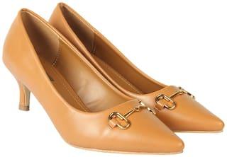 Flat n Heels Pumps For Women ( Tan )