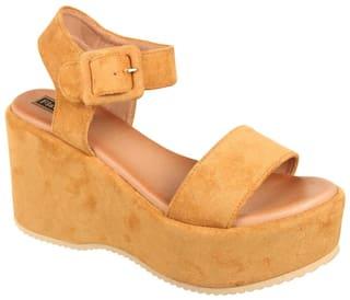 Flat n Heels Sandals For Women ( Tan ) 1 Pair
