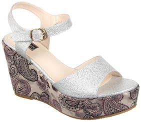 Women Sandals ( Silver )