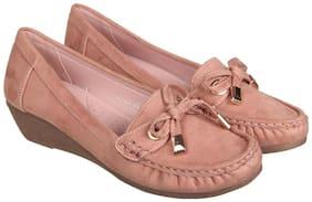 Flat n Heels Women Pink Wedges