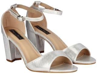 Flat n Heels Sandals For Women ( Silver )