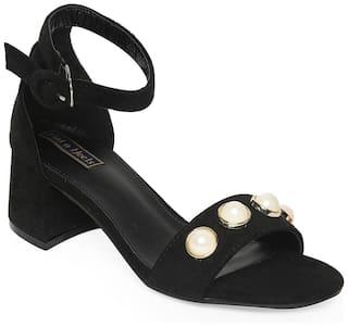 Flat n Heels Black Stilettos