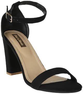 Flat n Heels Sandals For Women ( Black ) 1 Pair