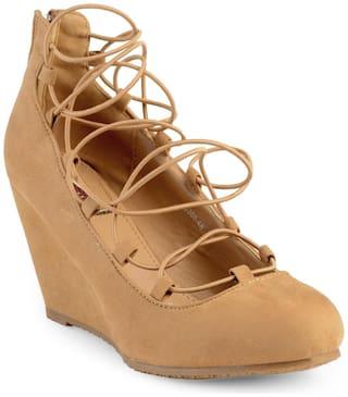Flat N Heels Tan Fashion Wedges