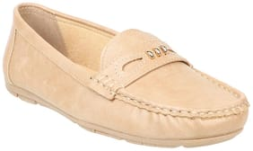 Women Solid Loafers ( Brown )