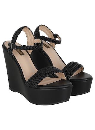Flat n Heels Wedges For Women ( Black ) 1 Pair