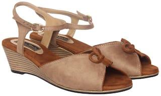 Flat n Heels Wedges For Women ( Beige ) 1 Pair