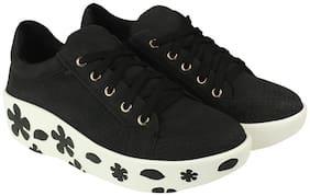 Flat n Heels Women Black Slip-On Shoes