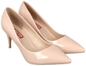 Flat n Heels Women Beige Pumps