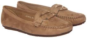 Flat n Heels Khaki Casual ShoesFor Women
