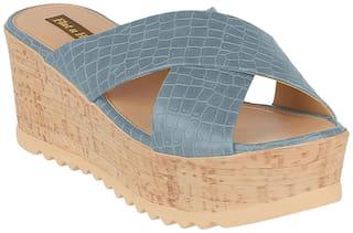 Flat n Heels Wedges For Women ( Grey ) 1 Pair