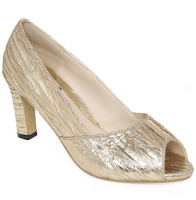 Flat n Heels Golden Stilettos