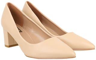 Flat n Heels Pumps For Women ( Beige ) 1 Pair