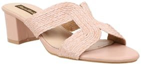 Flat n Heels Women Pink Heeled Sandals