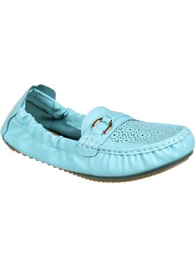 Flat n Heels Blue Loafers