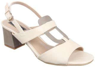 Flat n Heels Sandals For Women ( Beige ) 1 Pair