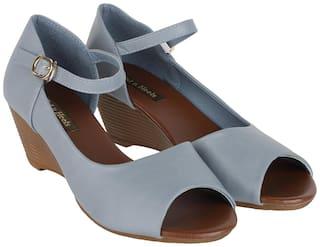 Flat n Heels Wedges For Women ( Blue ) 1 Pair