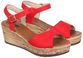 Women Wedges ( Red )