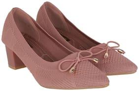 Flat n Heels Women Pink Pumps
