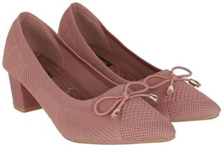 Flat n Heels Pumps For Women ( Pink )
