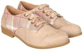 Flat n Heels Women Beige Slip-On Shoes