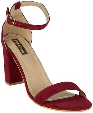 Flat n Heels Sandals For Women ( Maroon ) 1 Pair