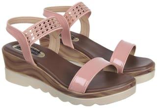 Flat n Heels Wedges For Women ( Pink ) 1 Pair