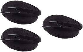 Flat Shoelaces Sports Shoe Lace (Pack of 3 Pairs of Same Color)